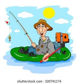 Cartoon Fisherman, who himself photographed Selfie