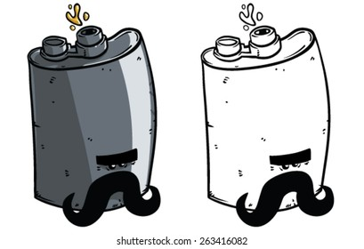 Cartoon Flask - Vector clip art illustration on white background