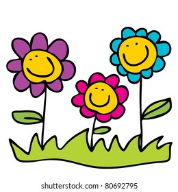Cartoon Flowers Images Stock Photos Vectors