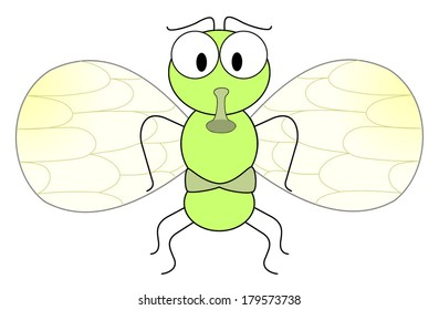 Cartoon fly character. Isolated on white background vector art image eps10