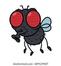 Cartoon Fly Vector Illustration