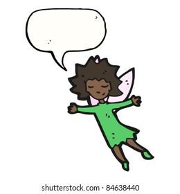 cartoon flying fairy girl