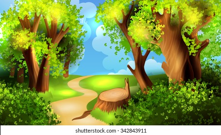 cartoon forest images stock photos vectors shutterstock rh shutterstock com cartoon forest background vector cartoon forest background clipart