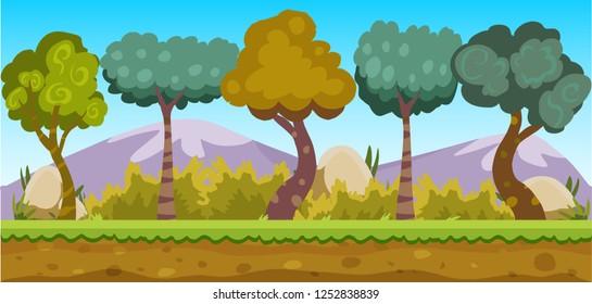 cartoon forest game background