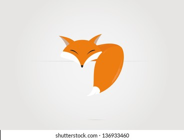 Cartoon fox. Vector illustration