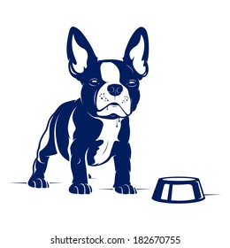Cartoon French Bulldog. Vector Illustration