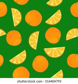 Cartoon fresh fruits in flat style