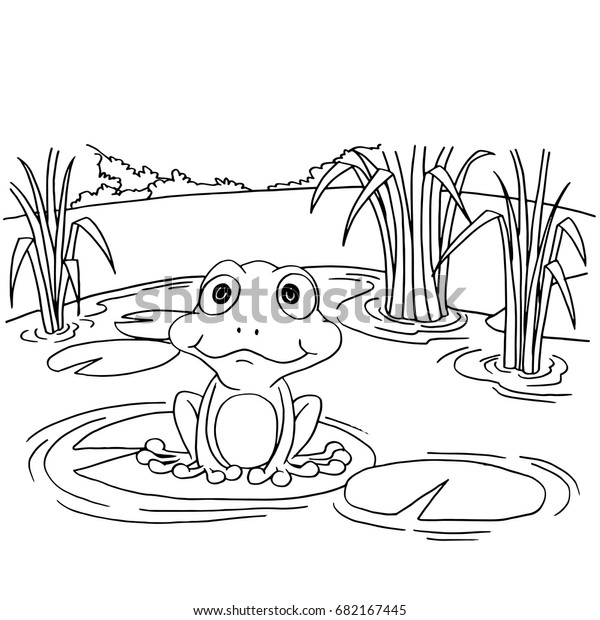 frog on heart lily pad coloring page - Coloring.com   Frog ...   620x600