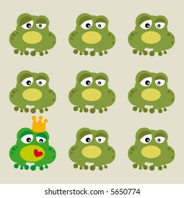 cartoon with frog and prince with love