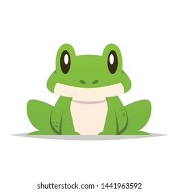 Cartoon frog vector isolated illustration