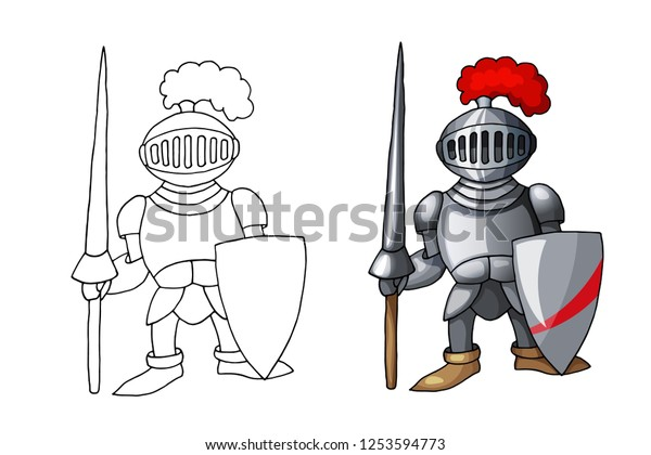 Cartoon Full Body Armor Suit European Stock Vector Royalty Free 1253594773