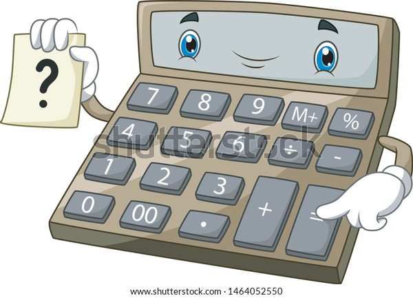 Cartoon Funny Calculator Paper Stock Vector (Royalty Free
