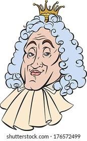Cartoon of the Funny King. Vector illustration.