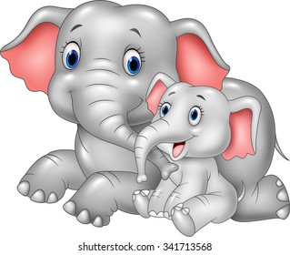 Mother And Baby Cartoon Images Stock Photos Vectors Shutterstock