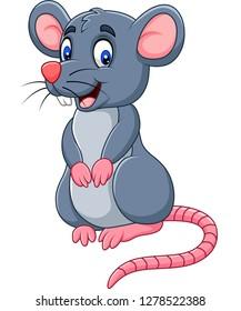 Cartoon funny mouse