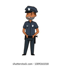 cartoon funny policeman