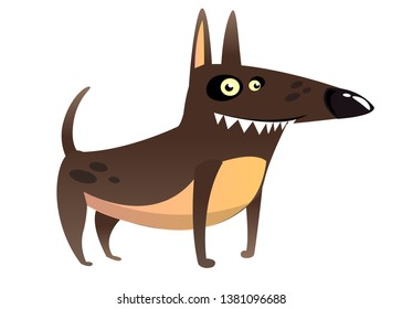 Cartoon Funny Watchdog  Illustration isolated