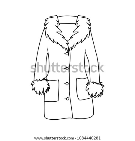 8bbc68014f28 Cartoon Fur Winter Coat Outline Isolated Stock Vector (Royalty Free ...
