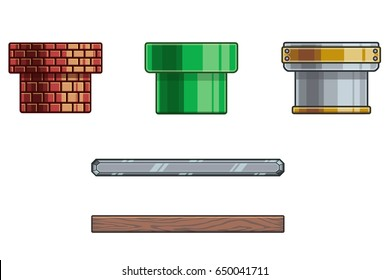 Cartoon Game Objects. A 2D game art object design for any type of game. Its fully customizable.