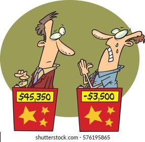 cartoon game show contestants