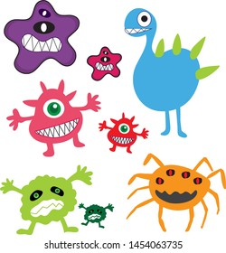 Cartoon germs  In the imagination