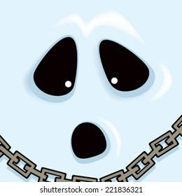 Cartoon Ghost Face
