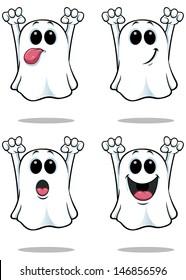Cartoon Ghosts - Set 1