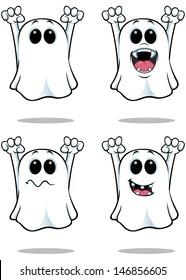 Cartoon Ghosts - Set 3