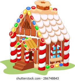 Cartoon gingerbread house
