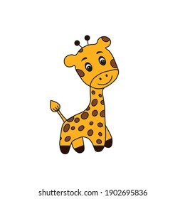 Cartoon giraffe. Vector illustration eps10