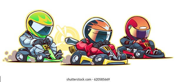 Cartoon Go Kart Race