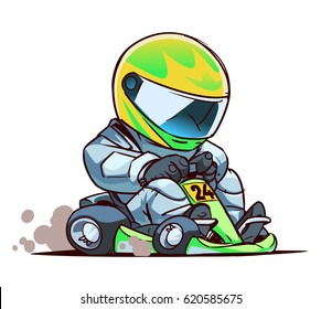 Cartoon Go Kart Racer