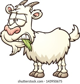 Cartoon goat. Vector clip art illustration with simple gradients. All in a single layer.