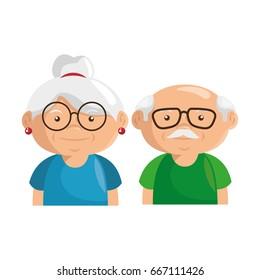 cartoon grandparents design