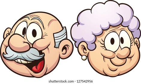 Image result for grandfather and grandmother funny clipart