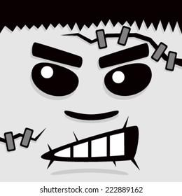Cartoon Gray Frank Face