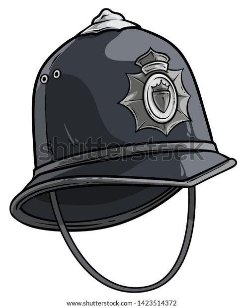 Cartoon Gray London Police Helmet Hat Stock Vector Royalty Free 1423514372 Most relevant best selling latest uploads. https www shutterstock com image vector cartoon gray london police helmet hat 1423514372