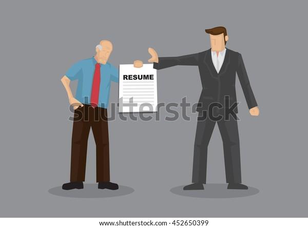 Cartoon Grey Hair Old Man Character Stock Vector (Royalty Free