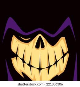 Cartoon Grim Reaper Face