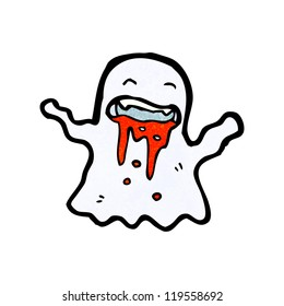 cartoon gross bloody ghost