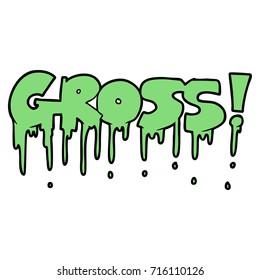 cartoon gross symbol