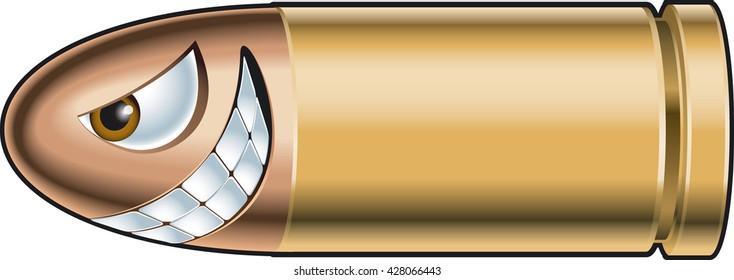cartoon gun bullet
