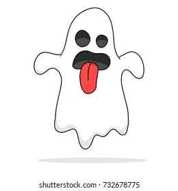 cartoon ghost images stock photos vectors shutterstock rh shutterstock com pictures of scary cartoon ghosts Cartoon Ghost Drawings