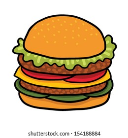 Cartoon hamburger