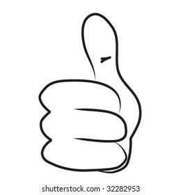 Cartoon hand - Thumb up