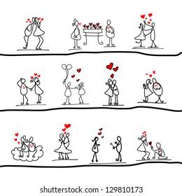 cartoon hand-drawn love character