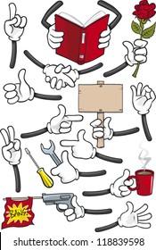 Cartoon hands collection