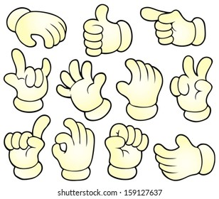 Cartoon hands theme collection 1 - eps10 vector illustration.