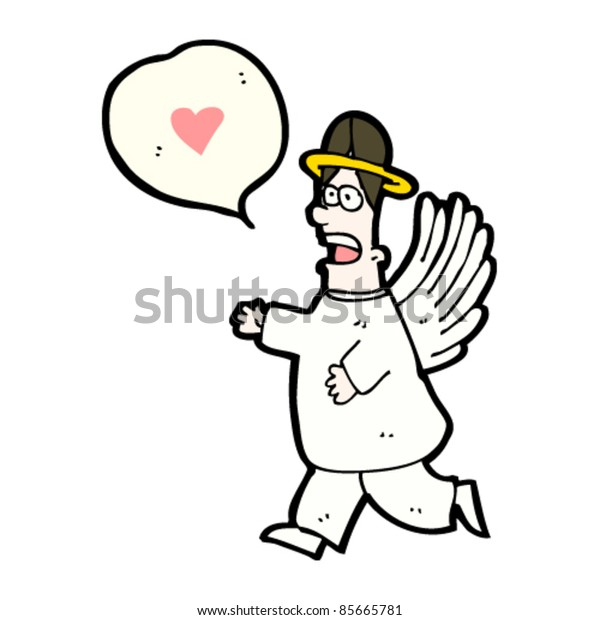 cartoon happy angel