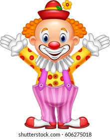 Cartoon happy clown